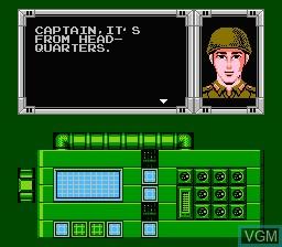 Menu screen of the game Bionic Commando on Nintendo NES