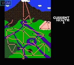 Menu screen of the game Clash at Demonhead on Nintendo NES
