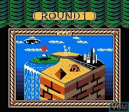 Menu screen of the game Dai Meiro - Meikyuu no Tatsujin on Nintendo NES