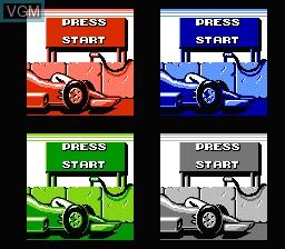 Menu screen of the game Danny Sullivan's Indy Heat on Nintendo NES