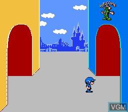 Menu screen of the game Doki! Doki! Yuuenchi - Crazyland Daisakusen on Nintendo NES