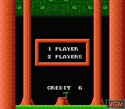 Menu screen of the game Don Doko Don on Nintendo NES