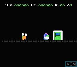 Menu screen of the game Door Door on Nintendo NES