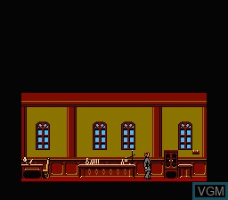 Menu screen of the game Dr. Jekyll and Mr. Hyde on Nintendo NES