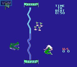 Menu screen of the game Eliminator Boat Duel on Nintendo NES