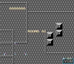 Menu screen of the game Exed Exes on Nintendo NES