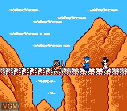 Menu screen of the game Family Trainer 10 - Rai Rai! Kyonshis - Baby Kyonshi no Amida Daibouken on Nintendo NES