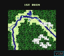 Menu screen of the game Fighting Road on Nintendo NES