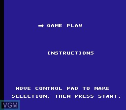 Menu screen of the game Firehouse Rescue on Nintendo NES
