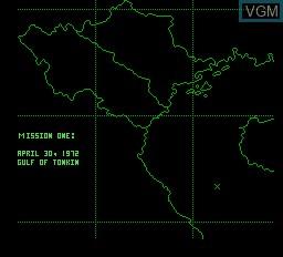 Menu screen of the game Flight of the Intruder on Nintendo NES