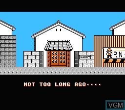 Menu screen of the game Hammerin' Harry on Nintendo NES
