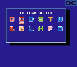 Menu screen of the game Home Run Nighter '90 - The Pennant League on Nintendo NES