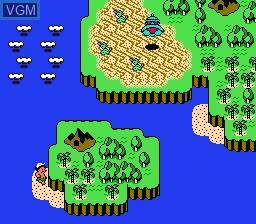 Menu screen of the game Adventure Island III on Nintendo NES