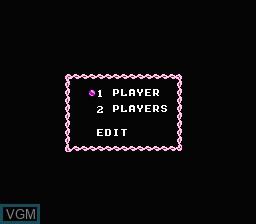 Menu screen of the game Idol Shisen Mahjong on Nintendo NES