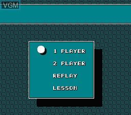Menu screen of the game Igo - Kyuu Roban Taikyoku on Nintendo NES