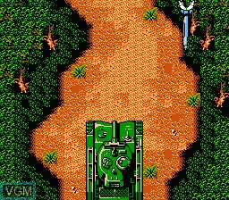 Menu screen of the game Ikari III - The Rescue on Nintendo NES