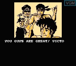Menu screen of the game Ikari Warriors II - Victory Road on Nintendo NES