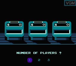 Menu screen of the game Jeopardy! 25th Anniversary Edition on Nintendo NES