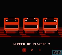 Menu screen of the game Jeopardy! Junior Edition on Nintendo NES