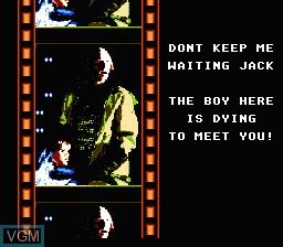 Menu screen of the game Last Action Hero on Nintendo NES