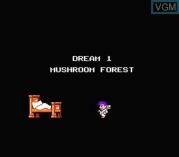 Menu screen of the game Little Nemo - The Dream Master on Nintendo NES