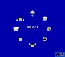 Menu screen of the game M.U.S.C.L.E. on Nintendo NES