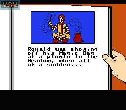 Menu screen of the game M.C Kids on Nintendo NES