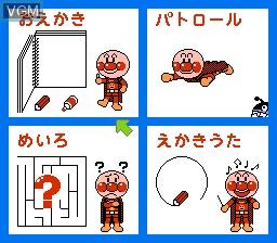 Menu screen of the game Oeka Kids - Anpanman to Oekaki Shiyou!! on Nintendo NES