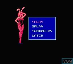 Menu screen of the game Quarter Back Scramble on Nintendo NES