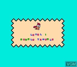 Menu screen of the game Quattro Adventure on Nintendo NES