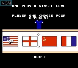 Menu screen of the game Quattro Sports on Nintendo NES