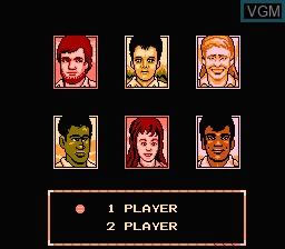 Menu screen of the game Rad Racket - Deluxe Tennis II on Nintendo NES
