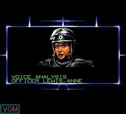 Menu screen of the game RoboCop 3 on Nintendo NES