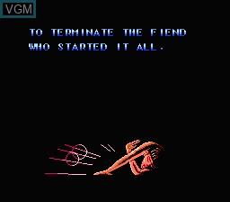 Menu screen of the game RoboCop Vs The Terminator on Nintendo NES