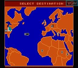 Menu screen of the game Rocket Ranger on Nintendo NES