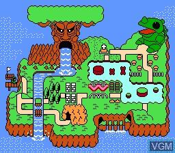 Menu screen of the game Wagyan Land on Nintendo NES