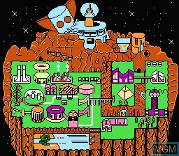 Menu screen of the game Wagyan Land 3 on Nintendo NES