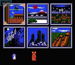 Menu screen of the game Wai Wai World on Nintendo NES
