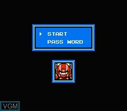 Menu screen of the game Wai Wai World 2 - SOS!! Paseri Jou on Nintendo NES