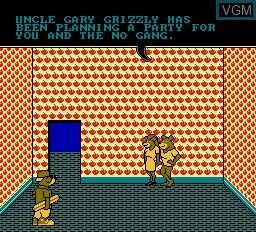 Menu screen of the game Wally Bear & the No Gang on Nintendo NES