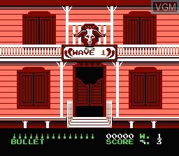 Menu screen of the game Wild Gunman on Nintendo NES