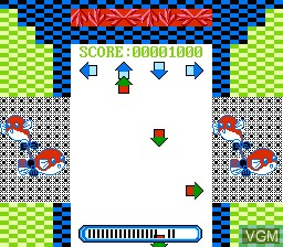 In-game screen of the game Hot Dance 2000 on Nintendo NES