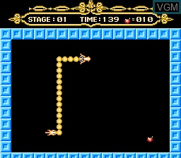 In-game screen of the game Fire Dragon on Nintendo NES