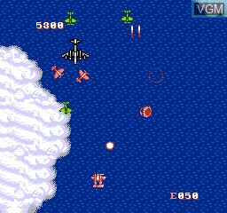 In-game screen of the game 1944 on Nintendo NES