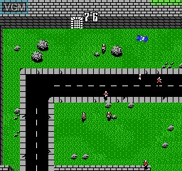 In-game screen of the game Death Race on Nintendo NES