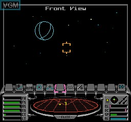 In-game screen of the game Elite on Nintendo NES