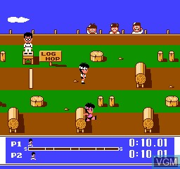 In-game screen of the game Super Team Games on Nintendo NES