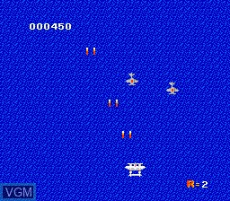 In-game screen of the game 1942 on Nintendo NES