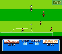 In-game screen of the game Datach - J League Super Top Players on Nintendo NES