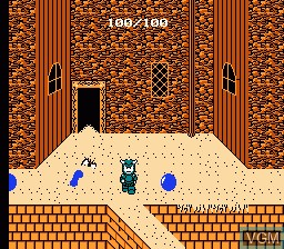 In-game screen of the game Deadly Towers on Nintendo NES